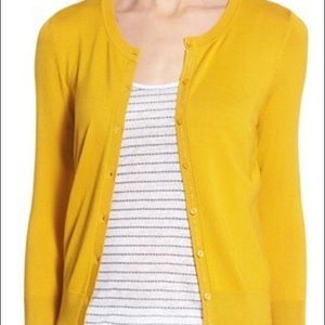 Mustard yellow halogen cardigan
